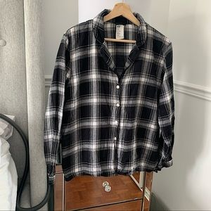 H&M   Black and Grey checkered flannel size M